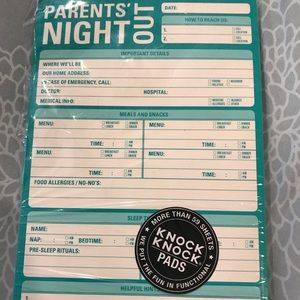 Knock knock parents night out pad